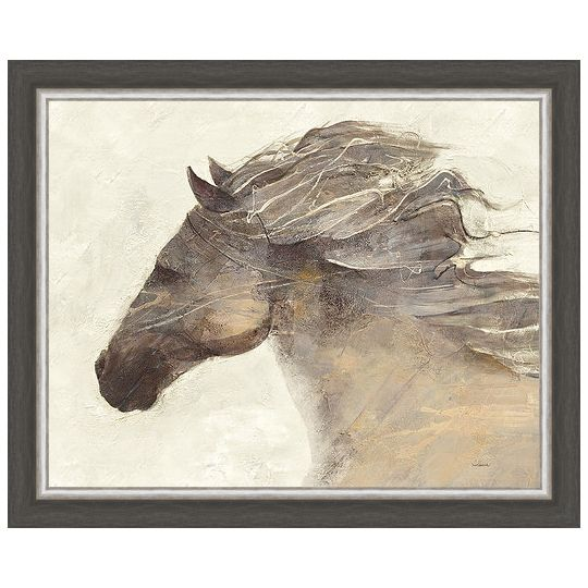 Into the Wind Ivory Framed Canvas