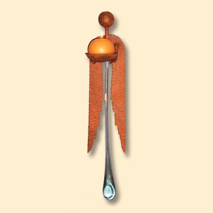 Iron Angel Giant Wall Candle Holder with 22 Inch Tear Drop
