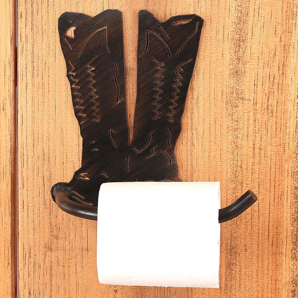 Iron Arm Boot Toilet Paper Holder