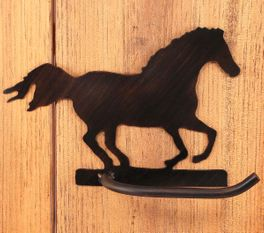 Iron Arm Running Horse Toilet Paper Holder