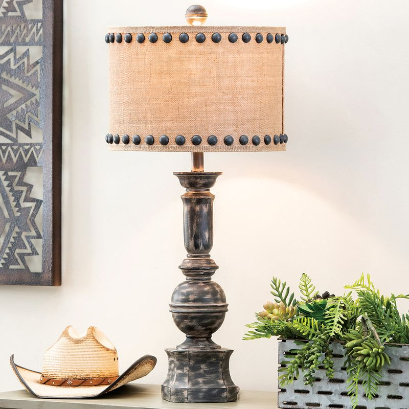 Rustic Lamps Iron Baluster Table Lamp