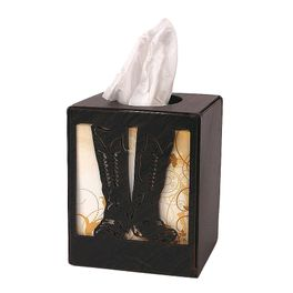 Iron Boot Square Tissue Box Cover