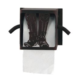 Iron Boot Toilet Paper Box