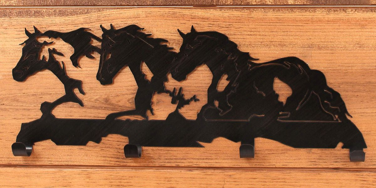 Iron Horses Coat Rack