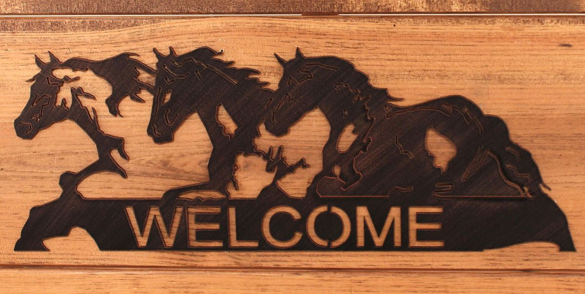 Iron Horses Welcome Sign