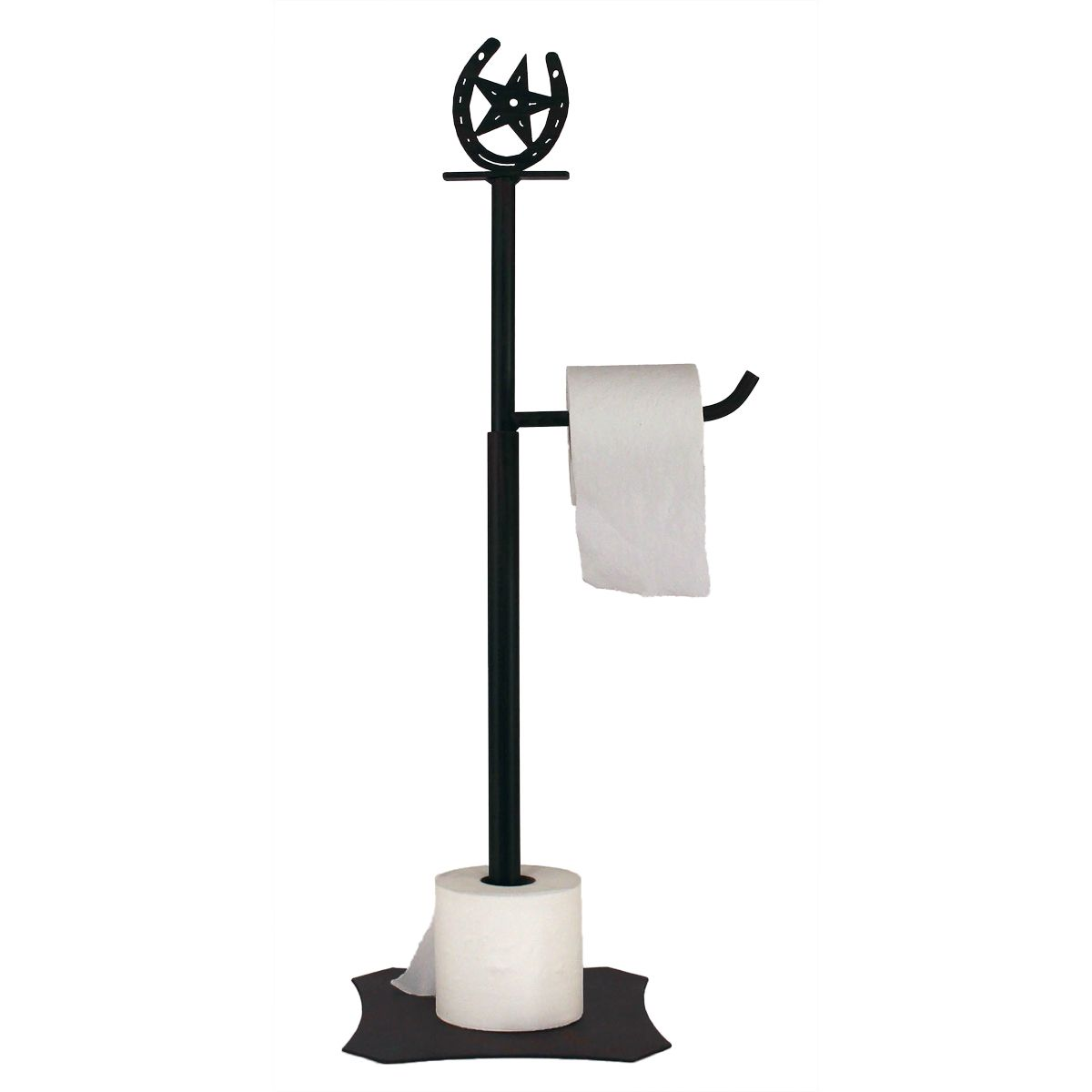 Iron Horseshoe and Star Toilet Paper Holder