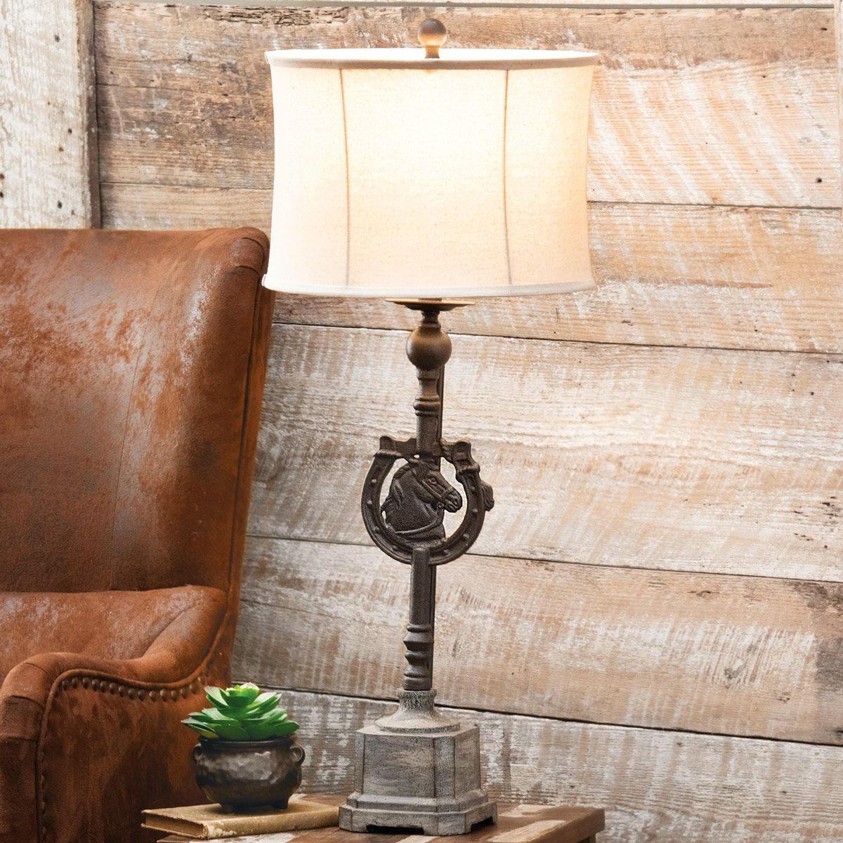 Iron Horseshoe Table Lamp