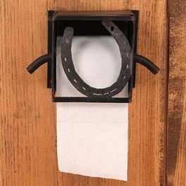 Iron Horseshoe Toilet Paper Box