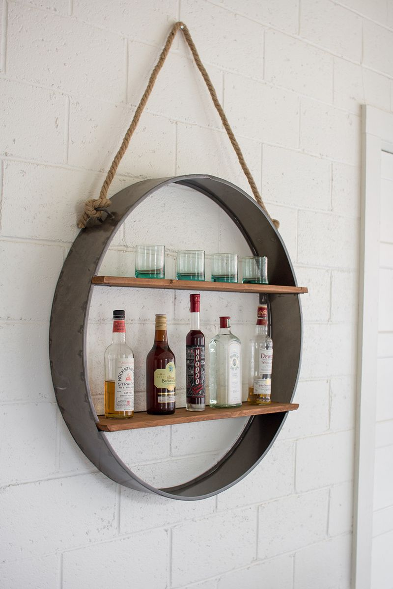 Iron Orb Wall Shelf