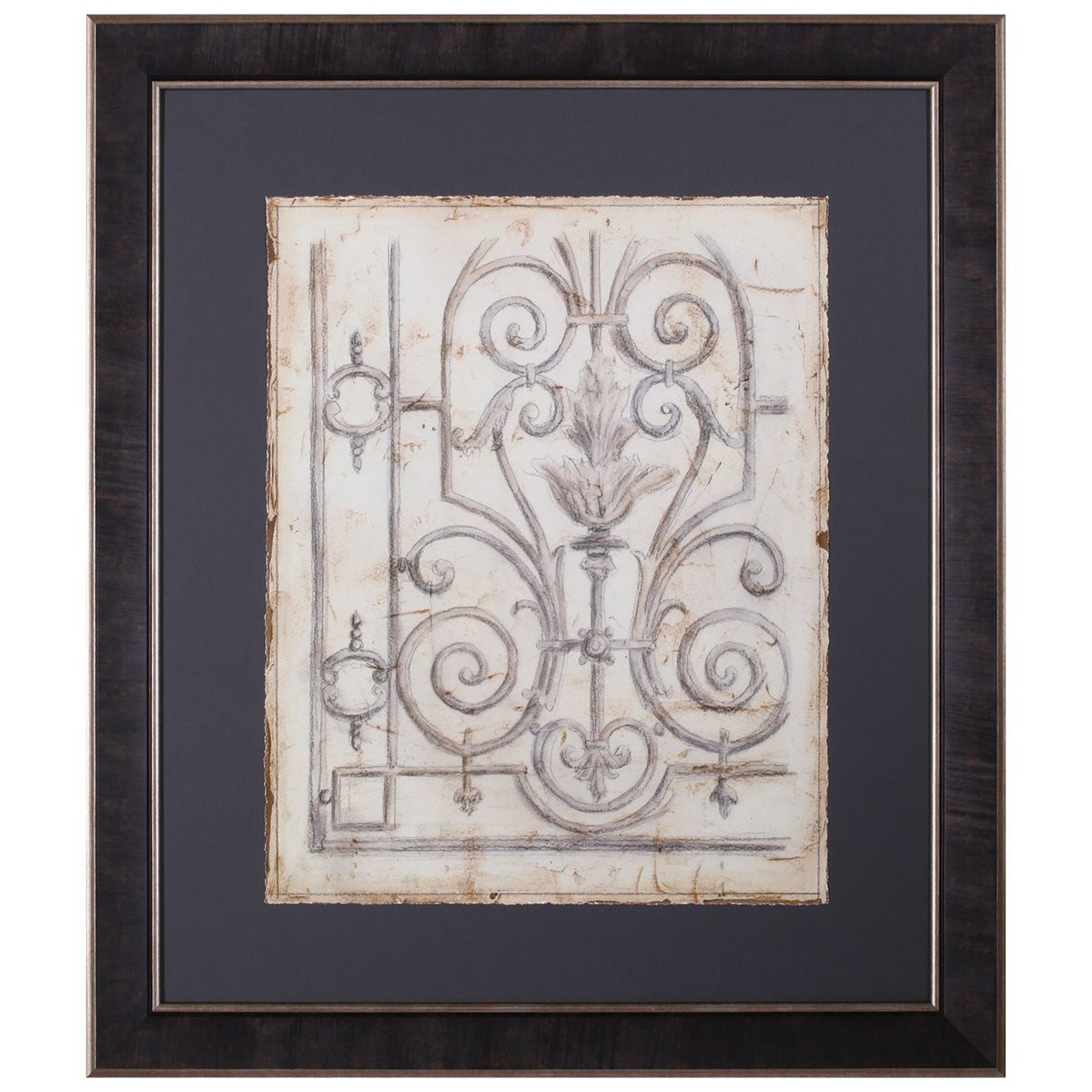Iron Pattern III Framed Art