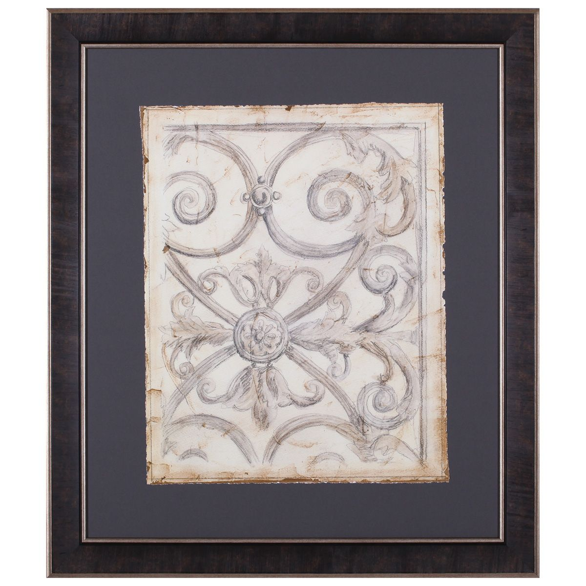 Iron Pattern IV Framed Art