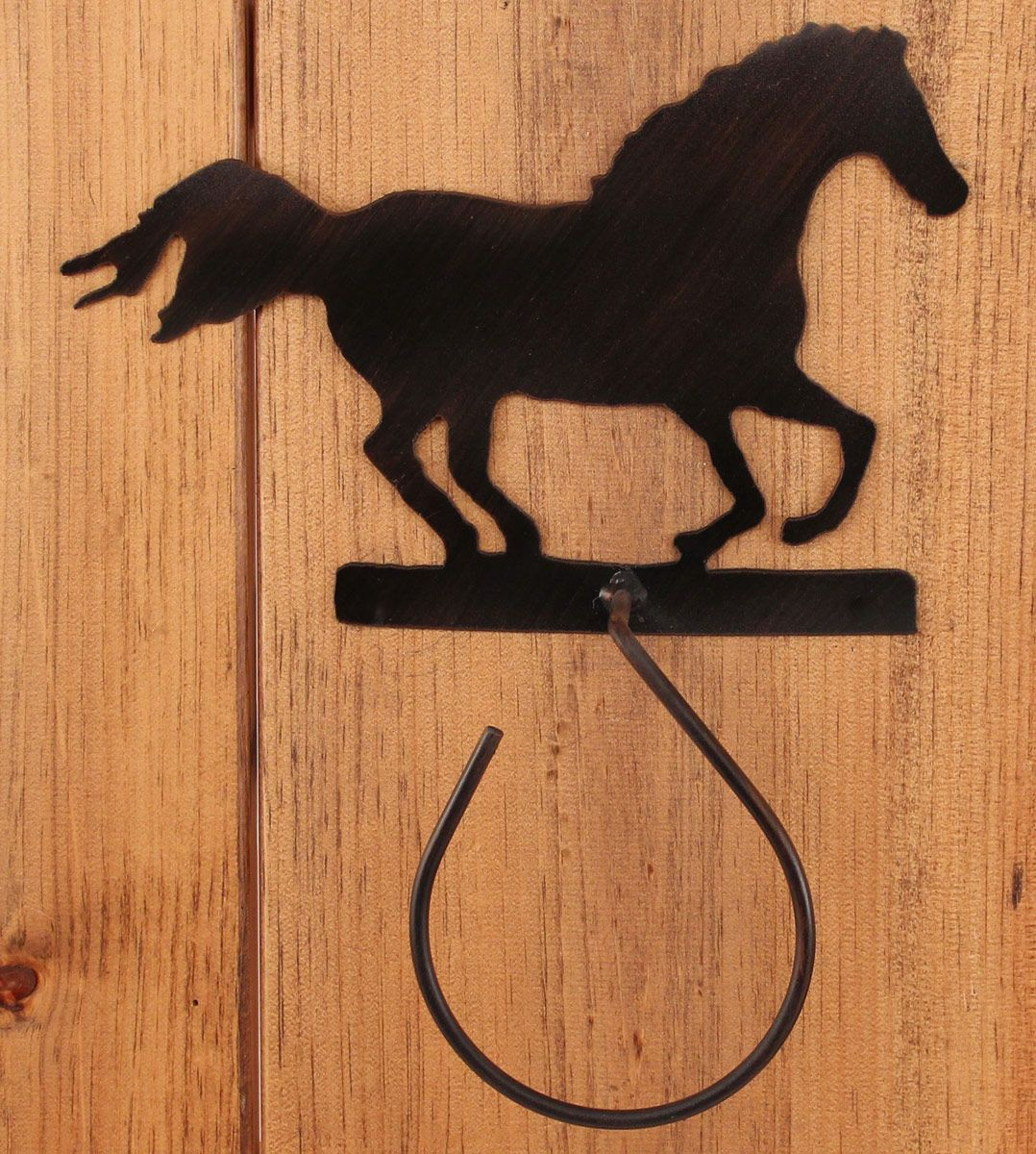 Iron Running Horse Hand Towel Holder