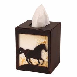 Iron Running Horse Square Tissue Box Cover