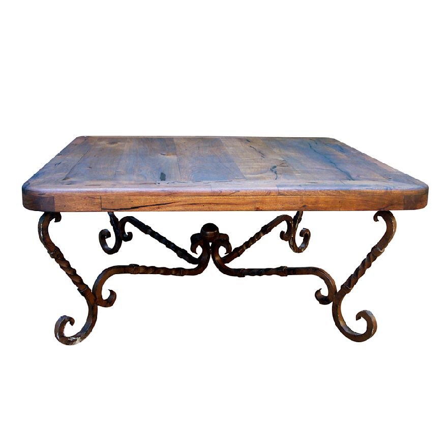 Iron Twist Square Coffee Table