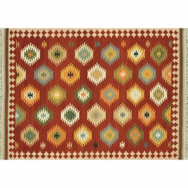 Isara Red Multi Rug Collection