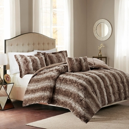 Jackson Chocolate Faux Fur Bedding Collection