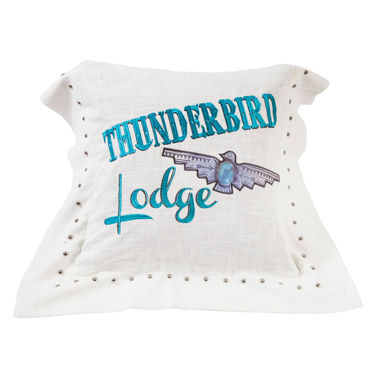 Jewel Accent Thunderbird Pillow