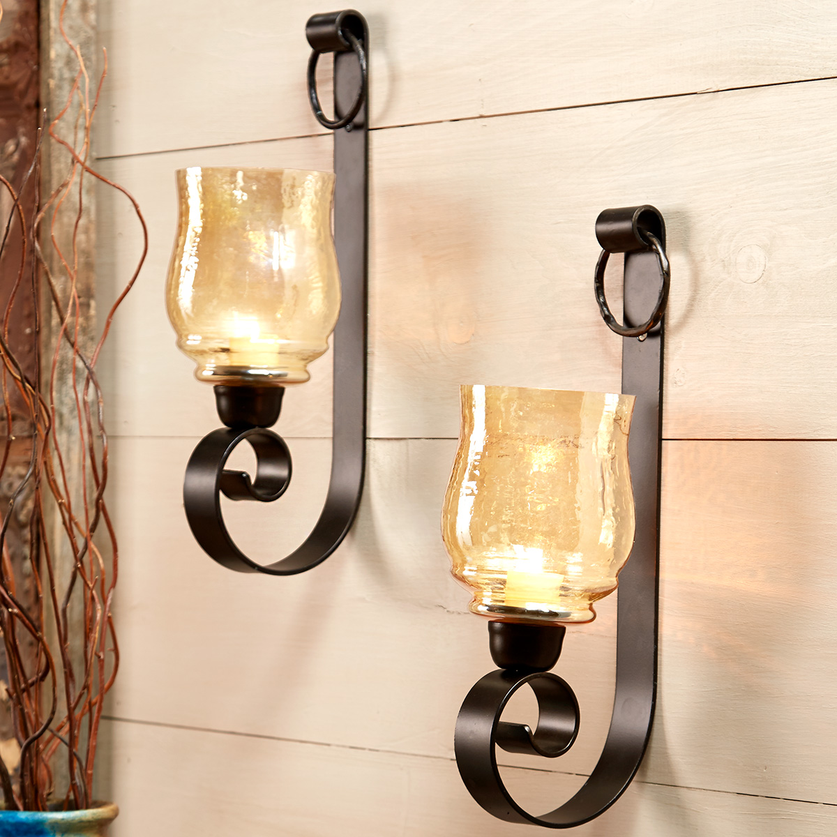 Western Scroll Wall Sconces - Set of 2