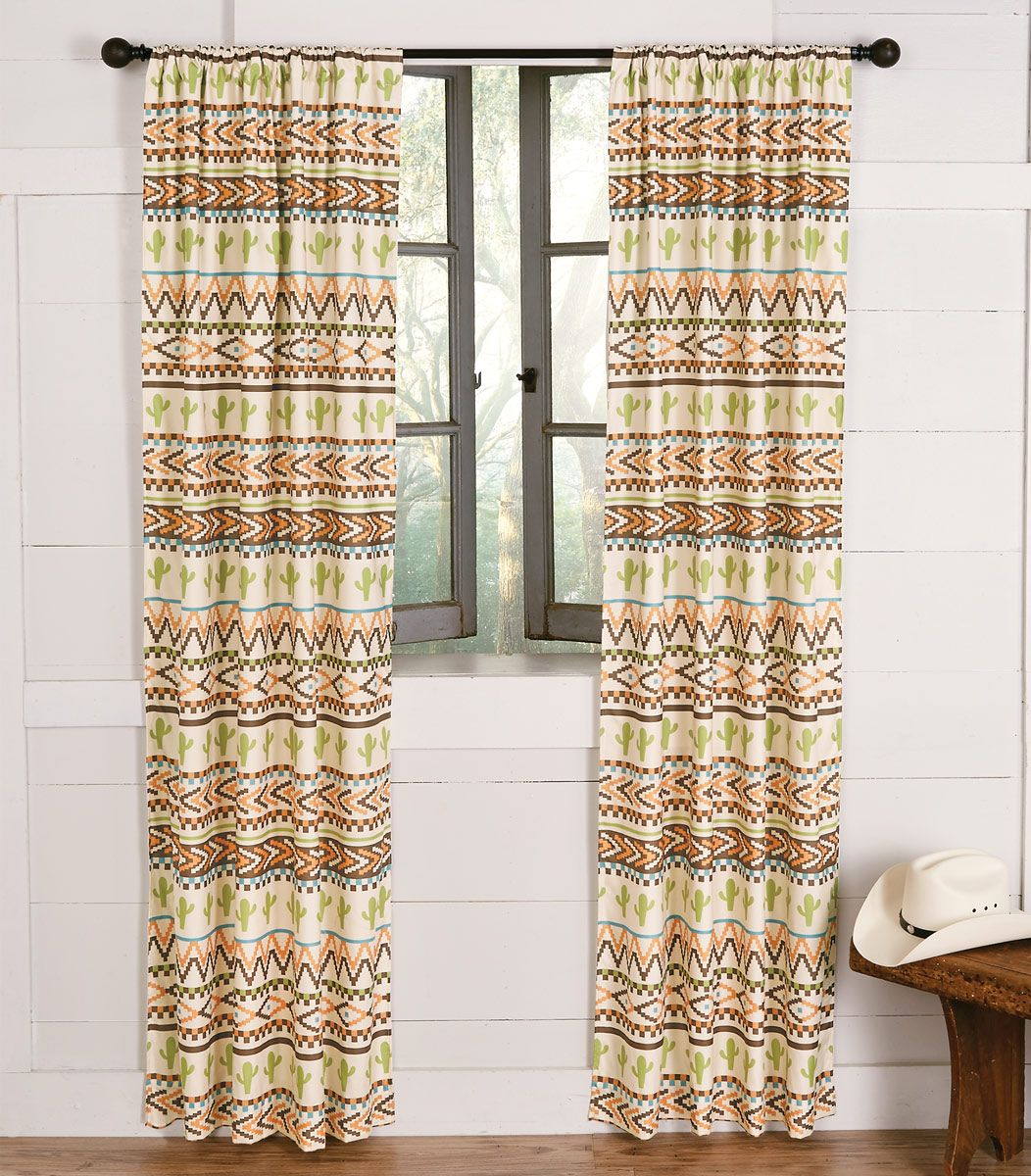 Joshua Stripe Cactus Drapes - CLEARANCE