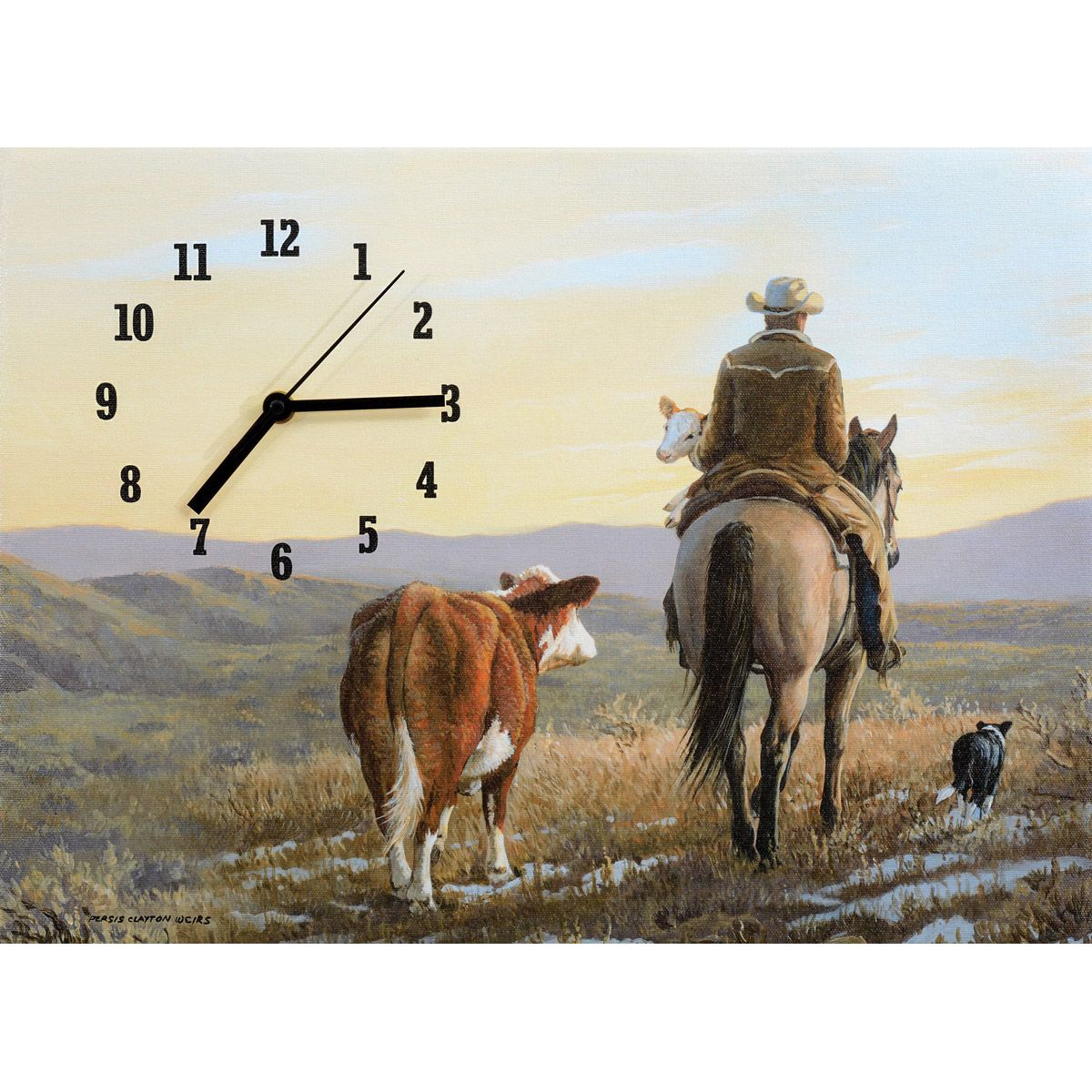 Just in Time Wrapped Canvas Clock