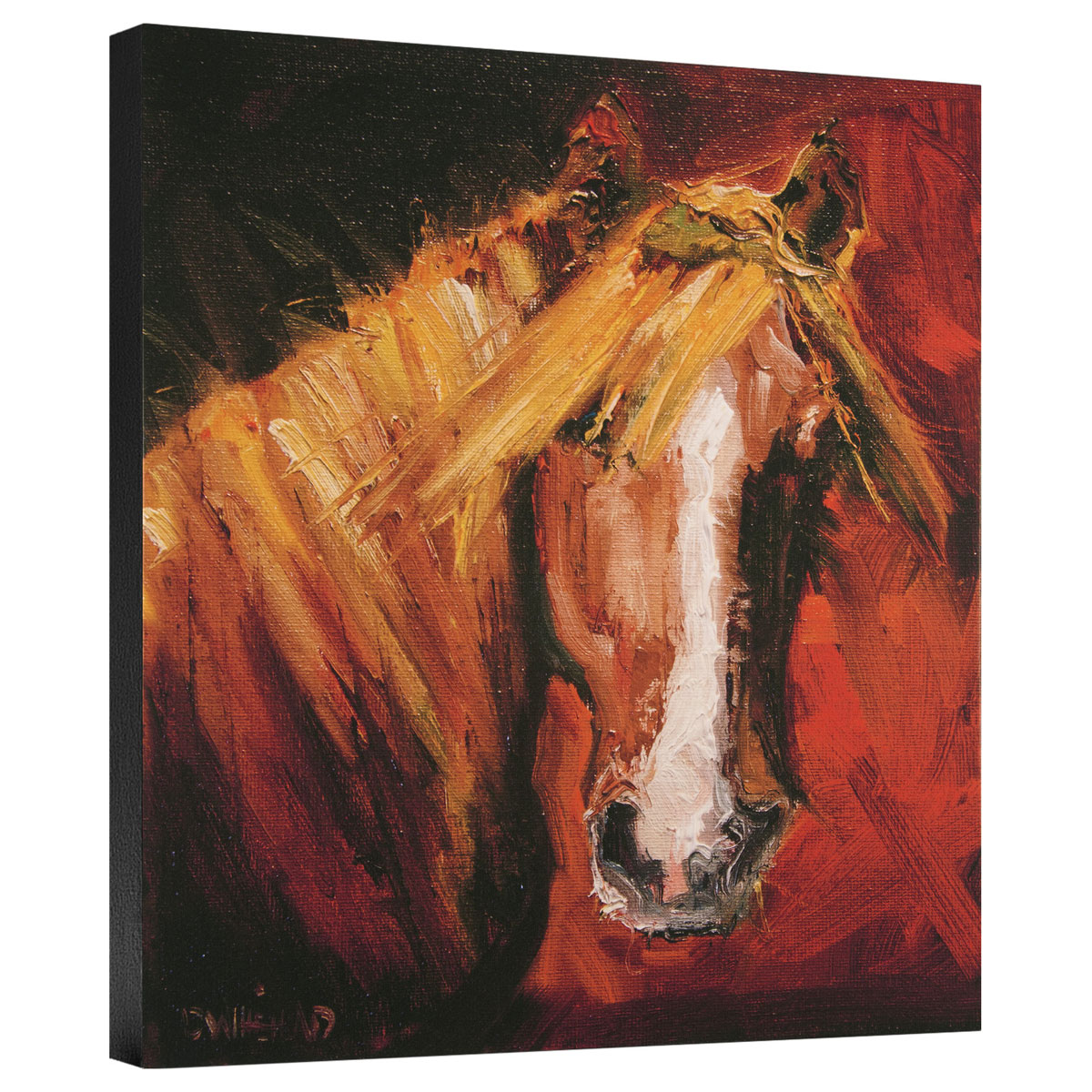 Katie Horses Gallery Wrapped Canvas