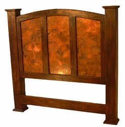 Kendra Headboard with Copper Panels