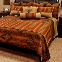 Kensington Rust Basic Bed Set - Queen