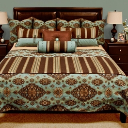 Kensington Teal Reversible Coverlets