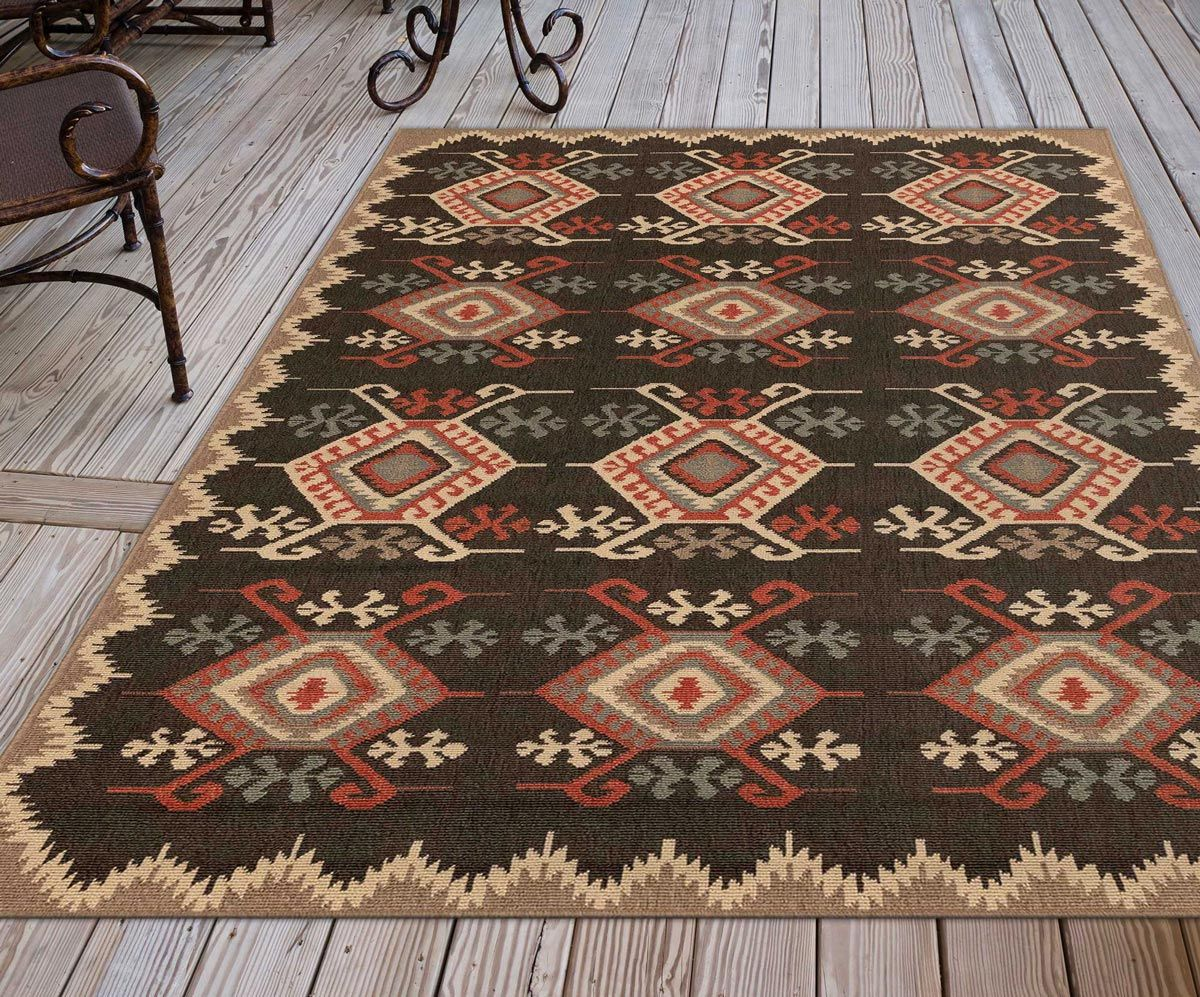 Kerrville Charcoal Indoor/Outdoor Rug - 3 x 5