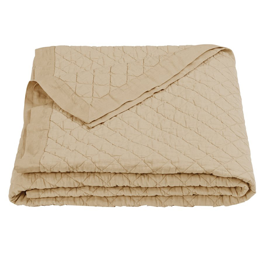 Khaki Linen Quilt - Full/Queen