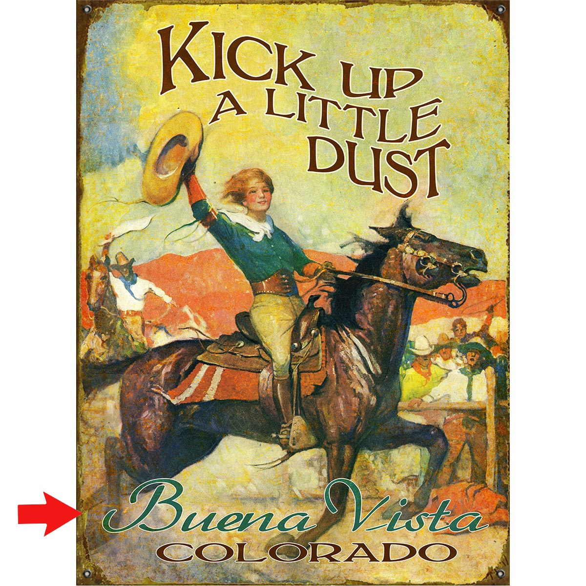 Kick Up a Little Dust Personalized Sign - 23 x 31