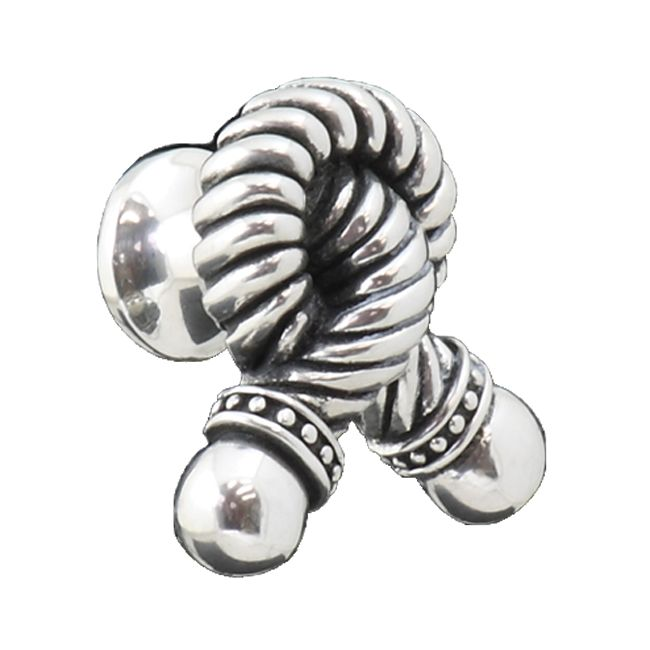 Knotted Rope Pewter Cabinet Knob - Large