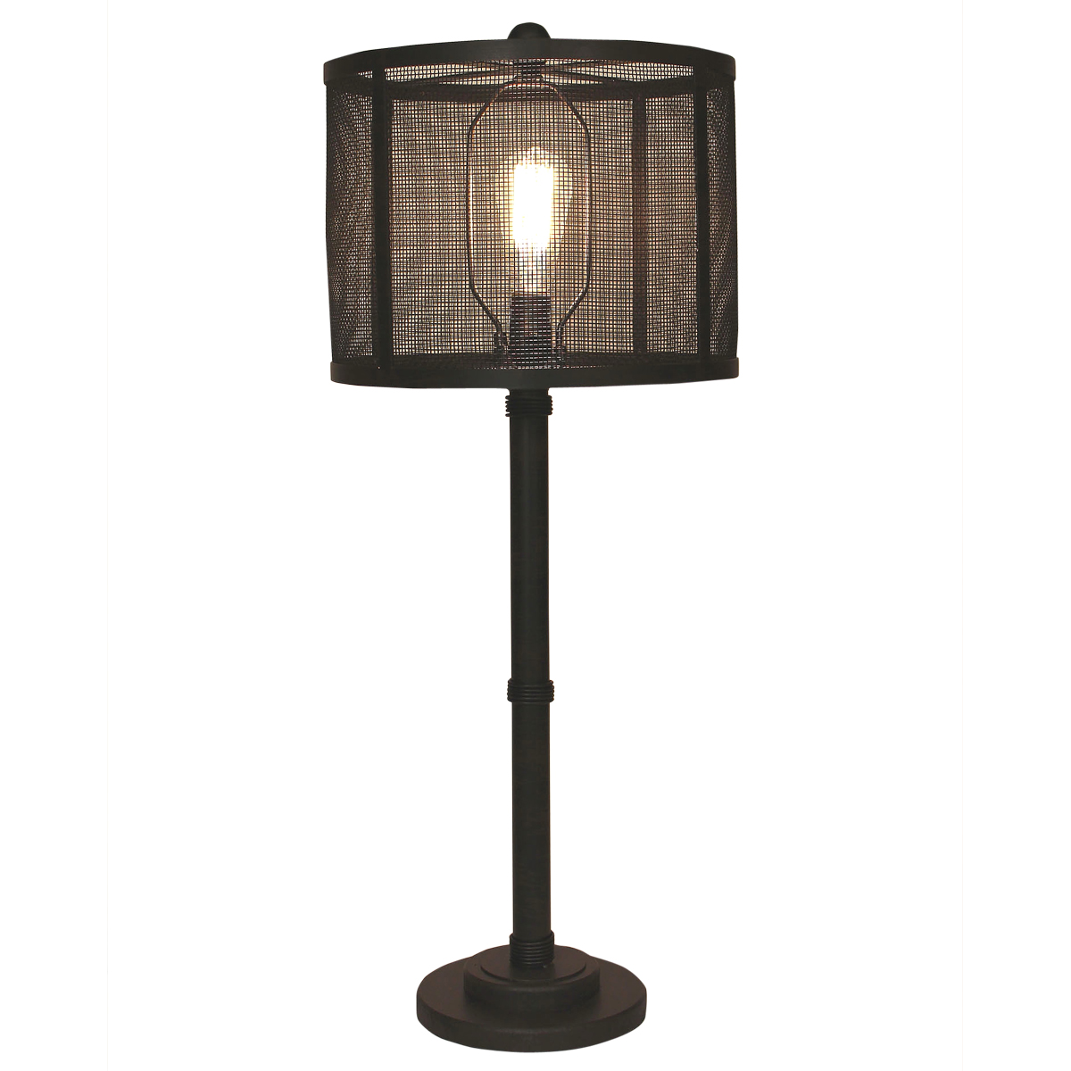 Kodiak Wire Wrapped Table Lamp with Metal Mesh Shade