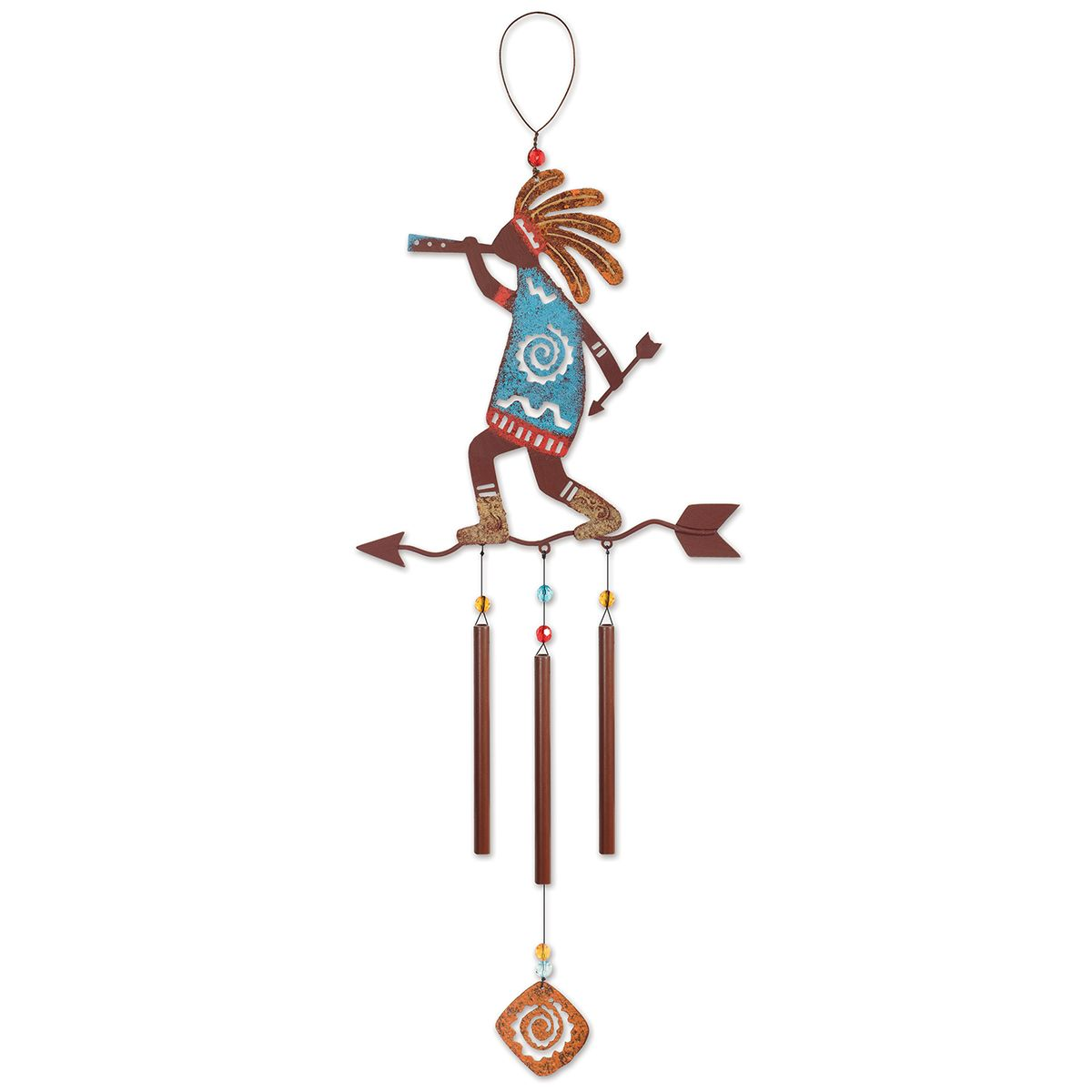 Kokopelli Arrow Wind Chime