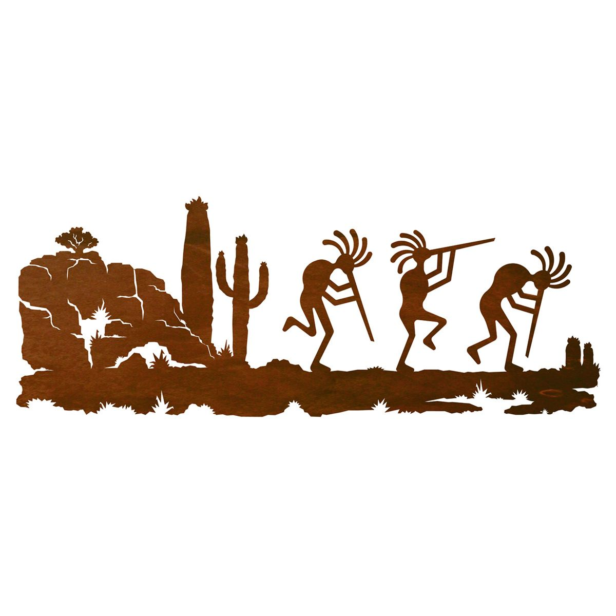 Kokopelli Wall Art - 42 Inch