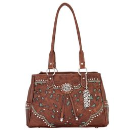 Lady Lace Organizer Tote - Antique Brown