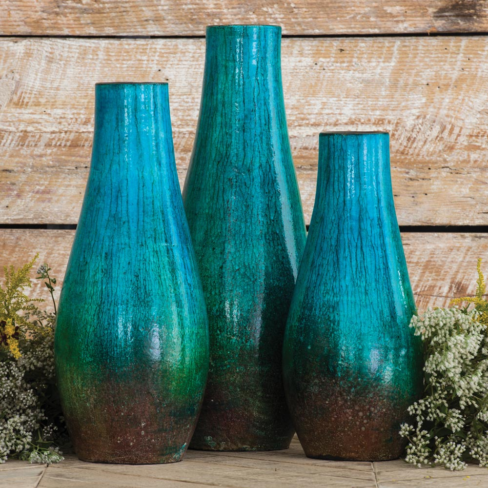 Laguna Pottery Vases - Set of 3