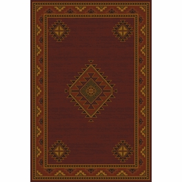 Laramie Burgundy Rug Collection