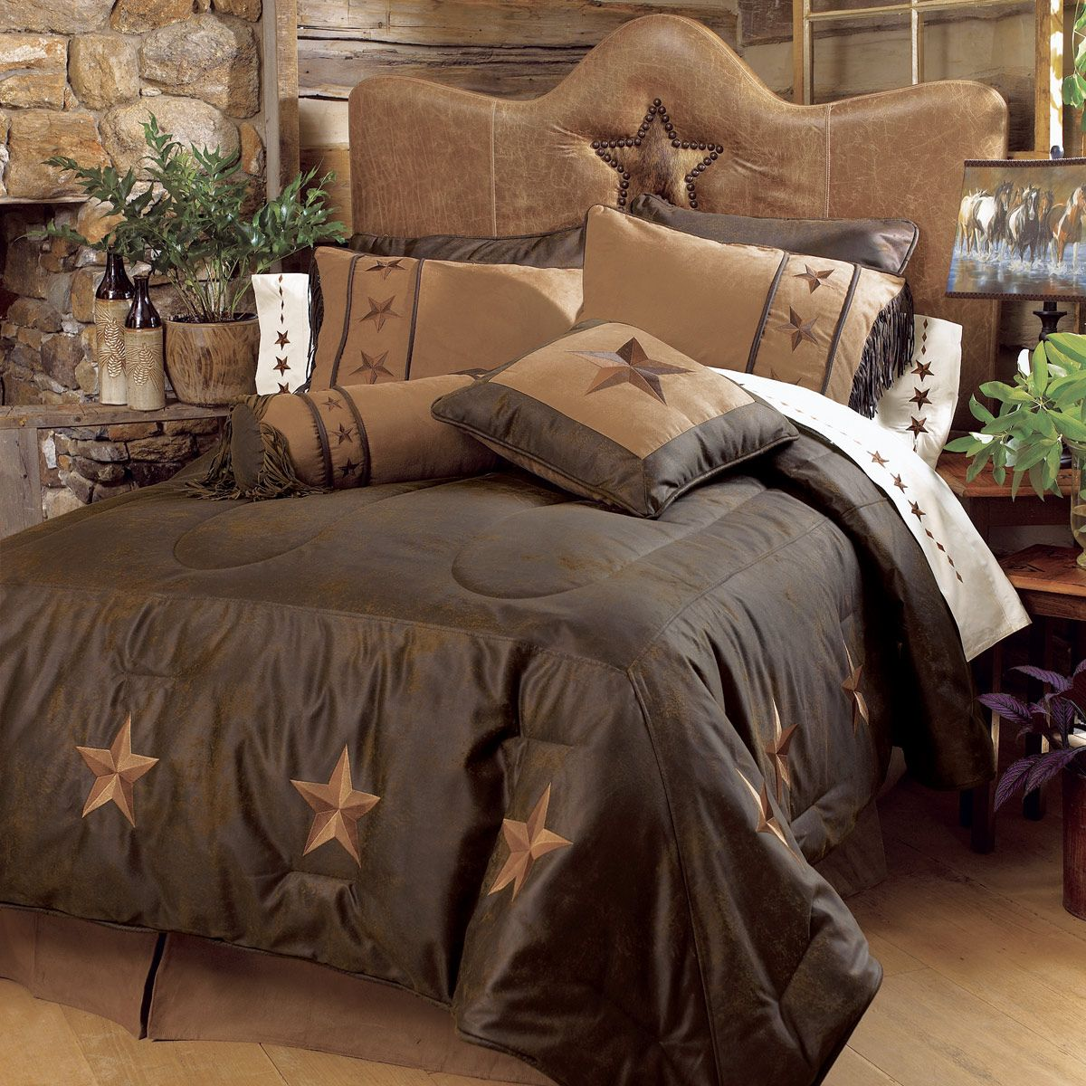 Laredo Chocolate Bed Set - Twin