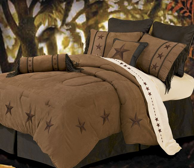 Laredo Tan Bed Set - Full - OVERSTOCK