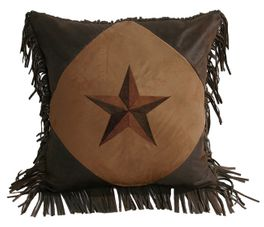 Laredo Tan Diamond Star Pillow