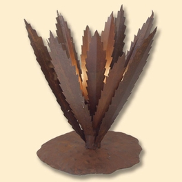 Large Iron Agave Lamp