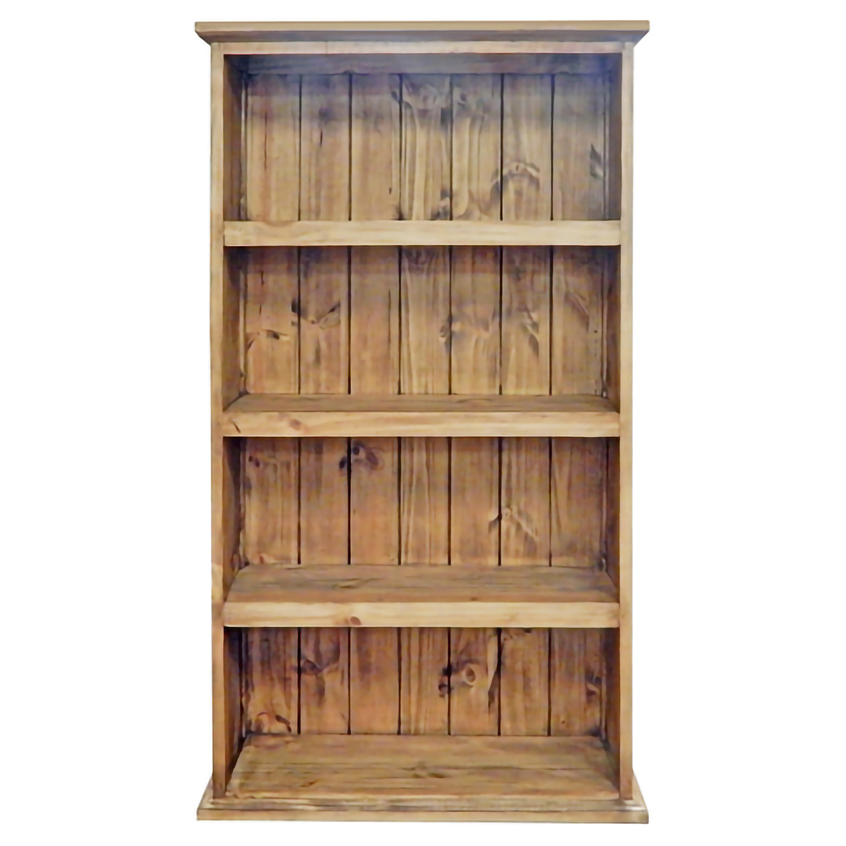Large Slatted Pine Bookcase
