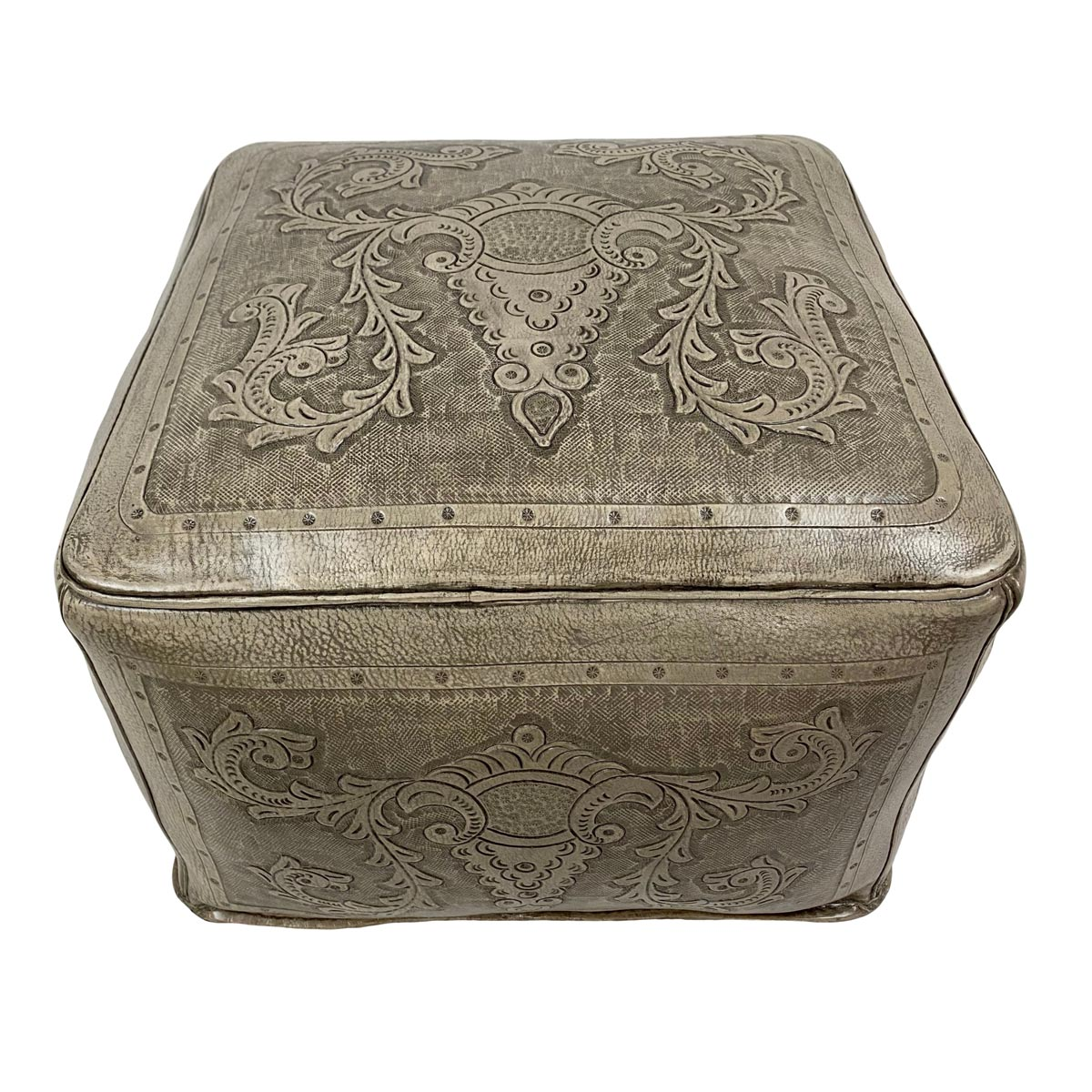 Large Square Ottoman - Colonial Ash