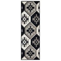Las Cruces Black and White Rug - 3 x 8