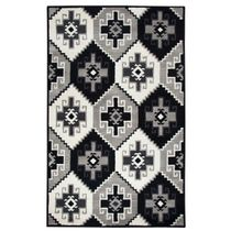 Las Cruces Black and White Rug - 5 x 8