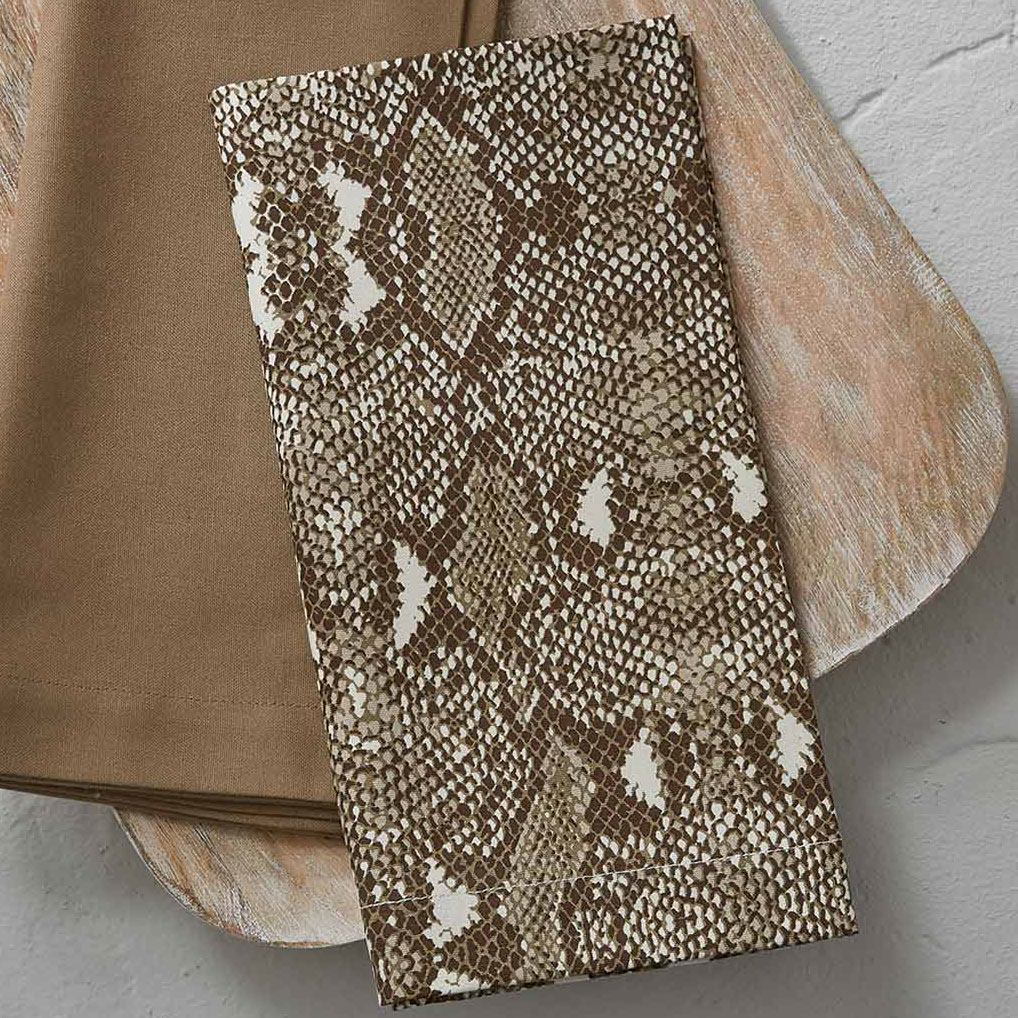 Las Cruces Snakeskin Napkins - Set of 4