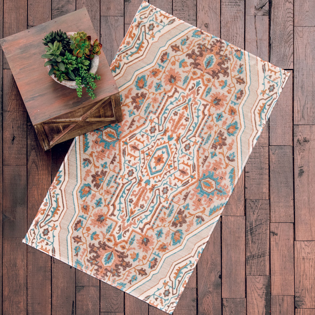 Las Cruces Teal Rug - 2 x 3