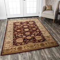 Leadville Gold and Red Floral Rug - 3 x 5