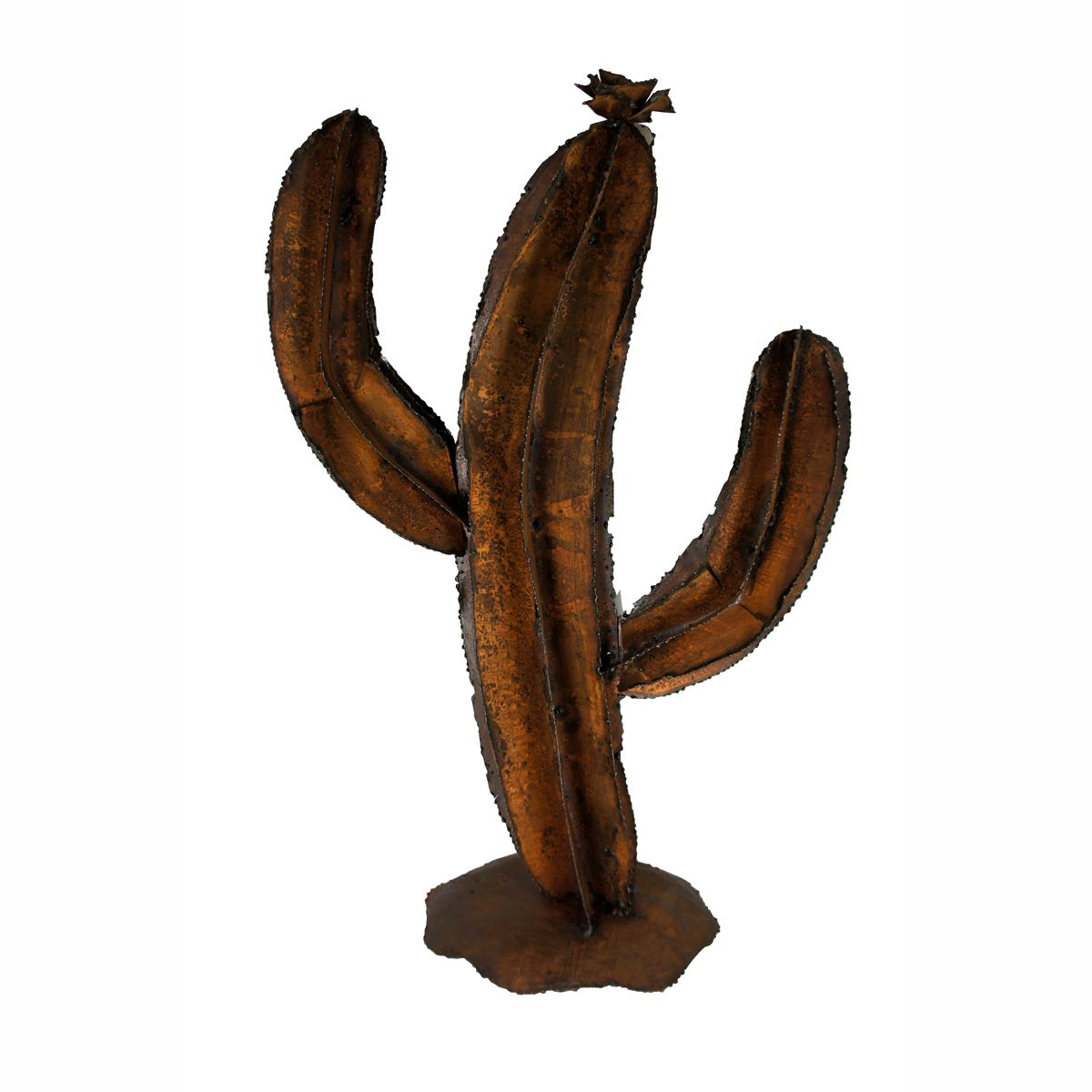 Leaning Saguaro Metal Wall Art